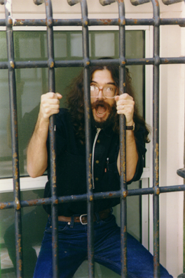 Dave behind bars